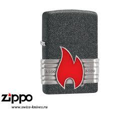 <b>Зажигалка</b> широкая Zippo <b>Classic Red</b> Vintage Wrap Iron Stone ...