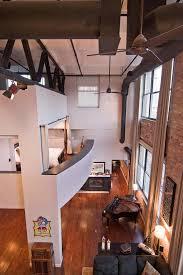 loft living room white painted