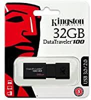 Kingston Digital <b>32GB</b> 100 G3 <b>USB</b> 3.0 DataTraveler, Black ...