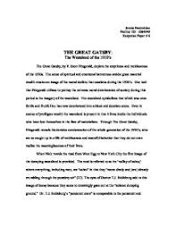 the great gatsby essay american dream