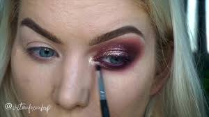 Victoria Fox Make - Up - Burgundy Glitter Eyes using <b>KVD</b> Lolita II ...