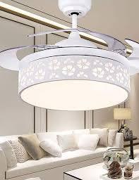 Chandelier <b>Nordic Modern Minimalist LED</b> Fan Light Fan Ceiling ...