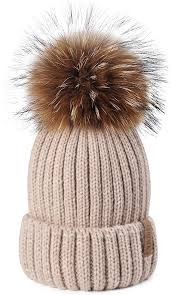 <b>FURTALK</b> Womens Girls Winter <b>Fur Hat Real</b> Large Raccoon <b>Fur</b> ...
