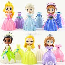<b>6pcs Disney</b> figures <b>frozen</b> Q Version Princess Change Clothes ...
