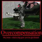 overcompensate