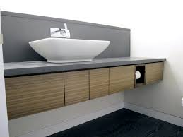 built bathroom vanity design ideas: diy modern wall floating built in bathroom cabinets with grey countertop diy modern long built