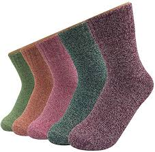 <b>Women's</b> Wool Socks Thick Colorful Winter Cashmere Warm Socks ...