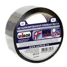Металлизированная <b>клейкая лента UNIBOB</b> 48мм х 50 м купить ...