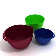 Ultra-light Eco-Friendly 3-Piece Mixing Bowl Set ... - Amazon.com
