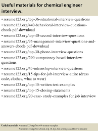 top  chemical engineer resume samples       useful materials for chemical engineer