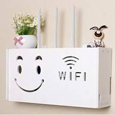 yazi Wifi <b>Router</b> Shelf TV Set-top Rack <b>Wall Hanging</b> Formaldehyde ...
