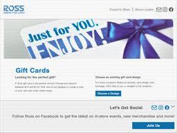 Ross   Gift Card Balance Check   Balance Enquiry, Links & Reviews ...