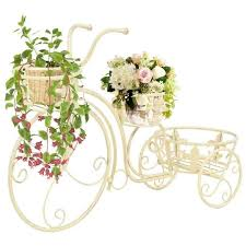 vidaXL <b>Plant Stand Bicycle Shape</b> Vintage Style Metal Garden Plant ...