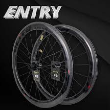 <b>Elite</b> NEW 700c <b>Road</b> Carbon Wheels V <b>Brake</b> 20 40 Hole Glossy Or ...