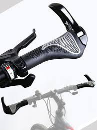 <b>Грипсы</b>-рога на руль велосипеда, черные, 14х5х3 см ...