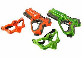 Лазерный бой (<b>набор из 2-х</b> бластеров с масками) на ...