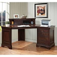 m espresso polished mahogany wood home office computer desk with drawers and hutch attached on white wooden wall panel as well as l shaped office desk astounding home office desk