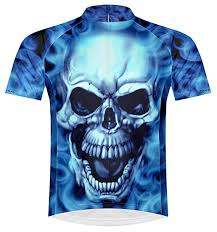 Primal Wear Burning Skull Cycling Jersey Men's ... - Amazon.com