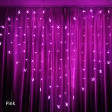Online Shop 2x1.<b>5m</b> Heart <b>LED</b> Butterfly Curtain Light <b>Icicle</b> Curtain ...