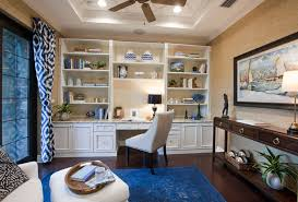 transitional home office with wallpaper grass cloth hardwood floors high ceiling frisco cabinetry af home office