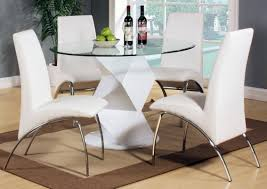 4 chair kitchen table:  rowley high gloss  chair dining table black or white