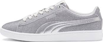 <b>Кеды</b> для девочки Puma <b>Vikky v2 Glitz</b> Jr, цвет: серебристый ...