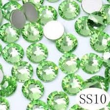 SS6 Grün opal <b>1</b>,9-2,<b>1mm</b> 1440 teile/paket Flache rückseite Kristall ...