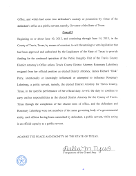 indictment bryan e wilson the texas law hawk rick perry felony indictment page 2
