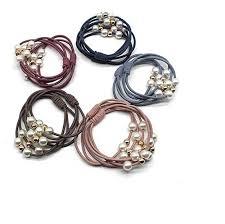 Buy El Regalo's Set of 5 <b>Korean</b> Stylish <b>Elastic</b> Pearls Hair <b>Rubber</b> ...