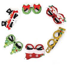 5Pcs Kids Christmas Glasses <b>Cartoon Xmas Tree</b> Antler <b>Glitter</b> ...