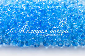 <b>Бисер</b> чешский <b>PRECIOSA Дропс</b> 2/0 60000 голубой <b>прозрачный</b> ...