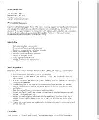 Professional Disability Support Worker Templates to Showcase Your     My Perfect Resume Resume Templates  Disability Support Worker