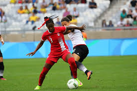 rio olympics defeats in photos ann odong photo kadeisha buchanan holds off dzsenifer marozsan ann odong photo