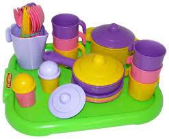 "<b>Набор посуды Полесье</b> ""<b>Настенька</b>"" с подносом на 6 персон 3971"