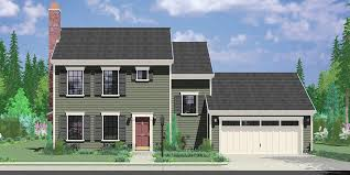 Small Affordable House Plans and Simple House Floor Plans Colonial House Plan Bedroom  Bath  Car Garage