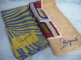 Два б/у винтаж Скиапарелли <b>шарфы</b>-ручной прокаткой краев ...