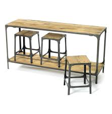 kitchen console table rustic industrial distressed console table and made from reclaimed sal