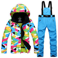 Women's <b>Outdoor Sport Ski Suit</b> Waterproof Snowsuits Coat Pants ...