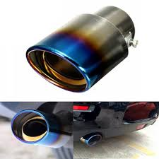 1pcs universal <b>car auto</b> stainless steel <b>exhaust muffler</b> tailpipe ...