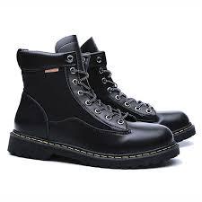 2019 <b>Men Boots PU</b> Leather <b>Shoes Winter Boots Men</b> Motocycle ...