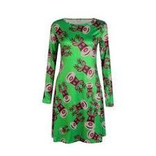 <b>Large</b> Size Print Dress For Women <b>2018 Autumn New</b> Christmas ...
