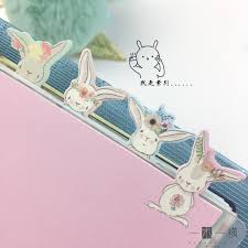 4pcs <b>A5</b>/<b>A6</b> 6 Holes <b>Creative Cute</b> rabbit Notebook Index Page ...