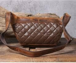 <b>PNDME vintage crazy</b> horse cowhide men chest bag multi-function ...