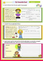 essay on my favourite dish english teaching worksheets my favourite food english worksheets writing series