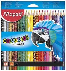 <b>Maped Цветные карандаши Color</b> Peps Animals 24 цвета (832224)
