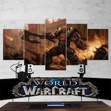 <b>WOW</b> - World of <b>Warcraft</b> 21 <b>Garrosh Hellscream 5 Piece</b> Canvas ...