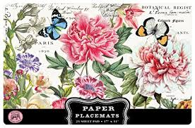 <b>Michel Design Works</b> 25 Count <b>Peony</b> Paper Placemats - Buy ...