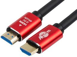 <b>Аксессуар ATcom HDMI</b> - <b>HDMI Ver</b> 2 0 3m Red-Gold AT5942 ...