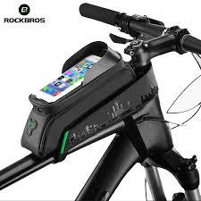 "ROCKBROS <b>Cycling</b> MTB <b>Bike Bicycle Bag</b> 6"" Waterproof Touch ..."