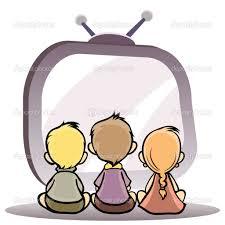 Resultado de imagen de dibujo viendo television